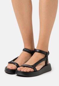 Ash - VICTORIA - Platform sandals - black - 0
