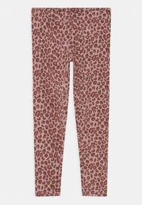 Lindex - MINI PRINTED 2 PACK - Leggings - Trousers - dark dusty pink - 2