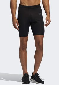 adidas Performance - OWN THE RUN SHORT TIGHTS - Sports shorts - black - 0