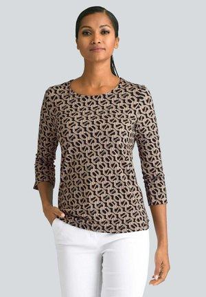 Long sleeved top - schwarz/goldfarben