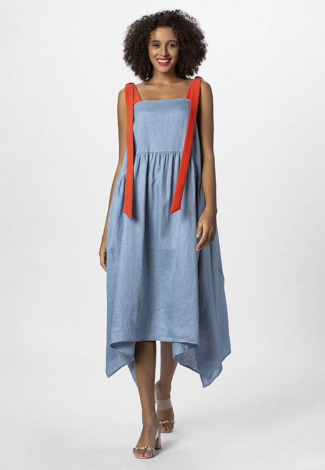 DRESS - Maxiklänning - lightblue/lobster