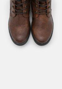 TOM TAILOR - Lace-up ankle boots - cognac - 5