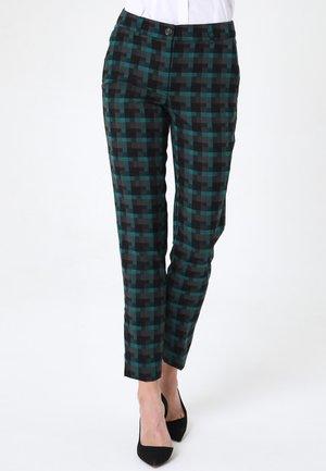 MARIONE - Trousers - schwarz  aqua