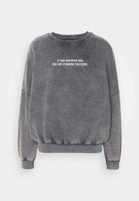 Even&Odd - Printed Oversized Sweatshirt - Mikina - dark grey - 6