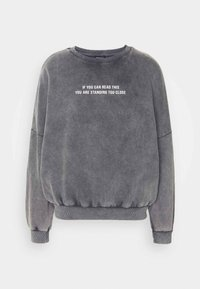 Printed Oversized Sweatshirt - Sweatshirt - dark grey