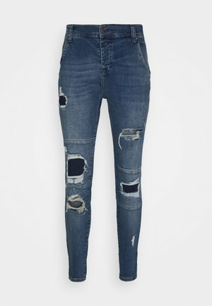 DISTRESSED PATCH - Jeans Skinny Fit - midstone