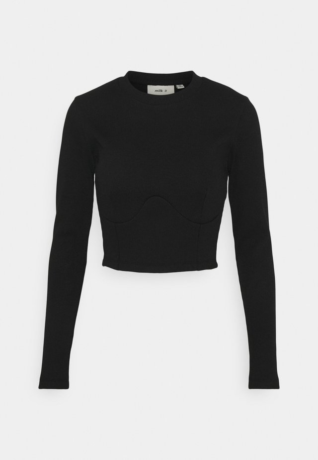 PANELLED BODICE SEAMING DETAIL - Longsleeve - black