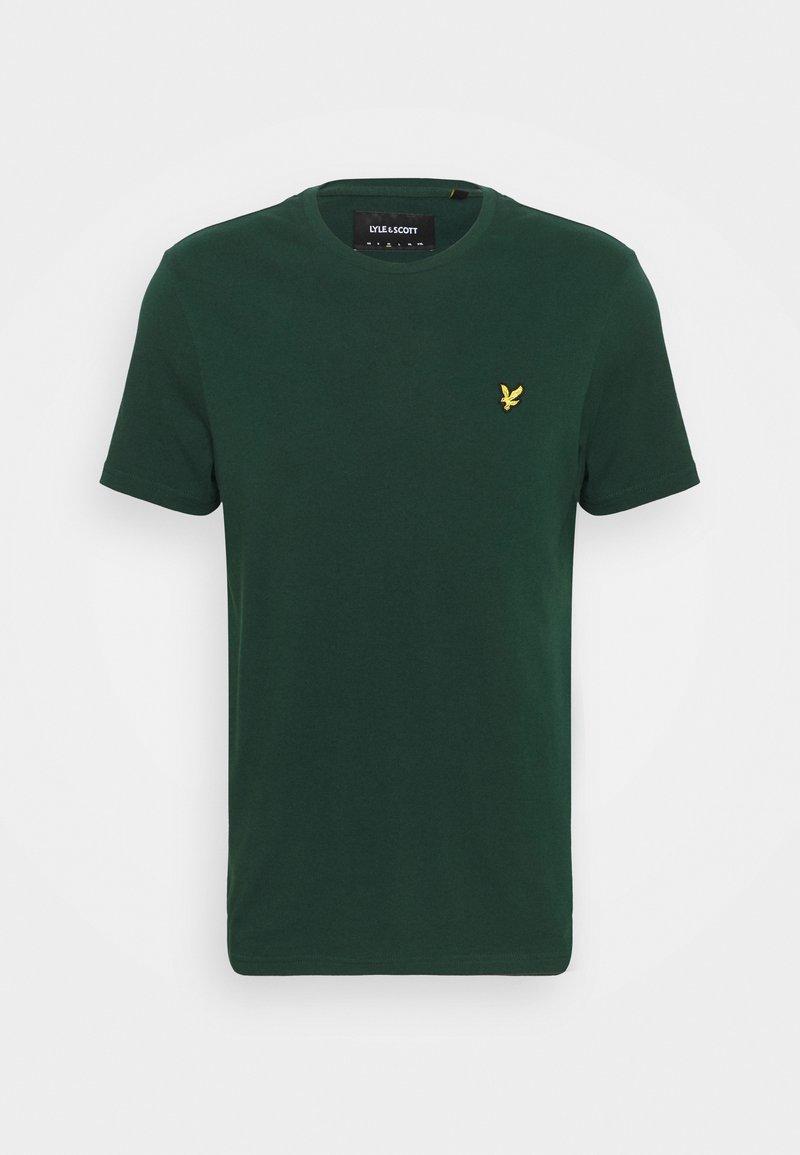 Lyle & Scott - PLAIN - T-shirt - bas - dark green