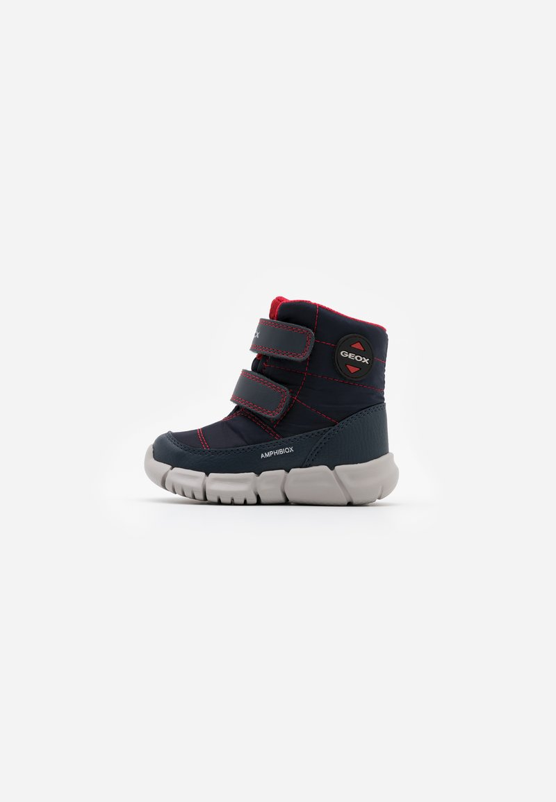 Geox - FLEXYPER BOY ABX - Snowboot/Winterstiefel - navy/red