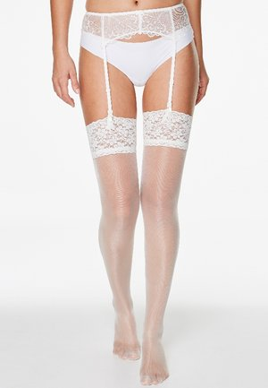 Over-the-knee socks - white