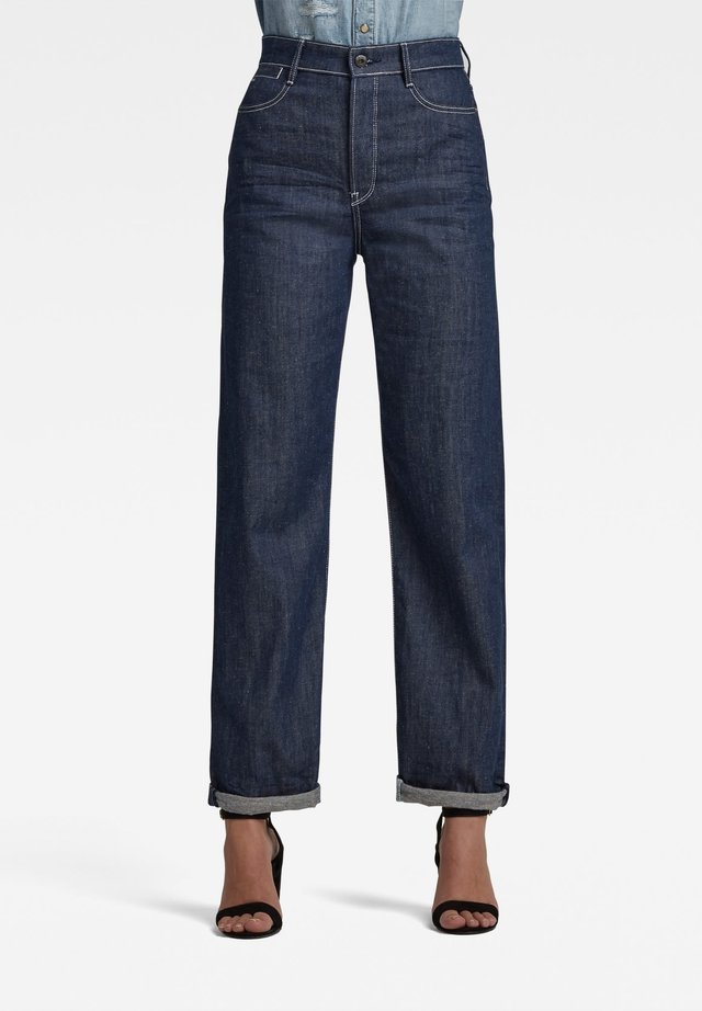 TEDIE ULTRA HIGH LONG STRAIGHT - Straight leg jeans - raw denim