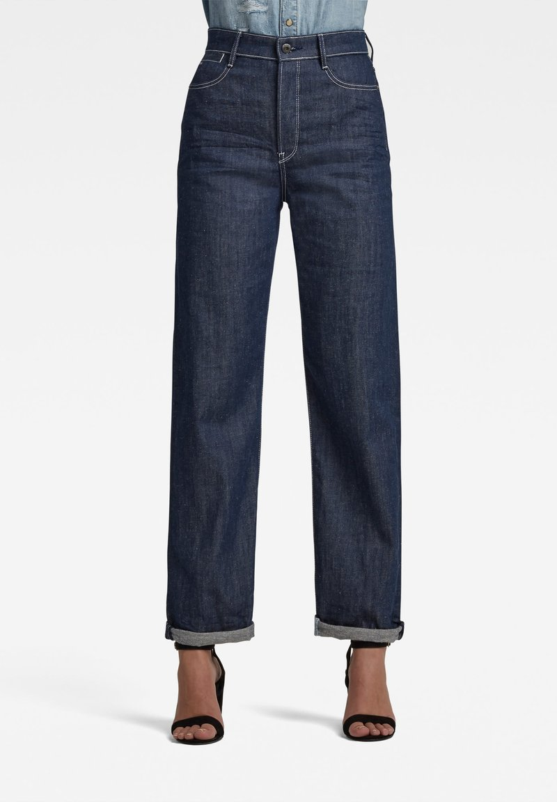 G-Star - TEDIE ULTRA HIGH LONG STRAIGHT - Straight leg jeans - raw denim