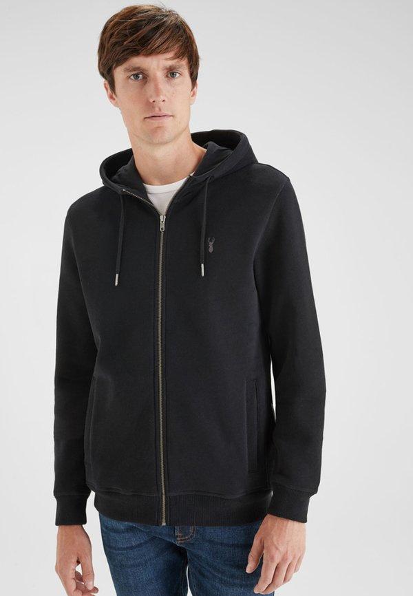 Next Bluza rozpinana - black/czarny Odzież Męska ACMF