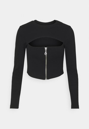 SYNERGY - Long sleeved top - black