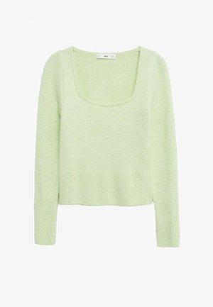 Jersey de punto - verde pastel