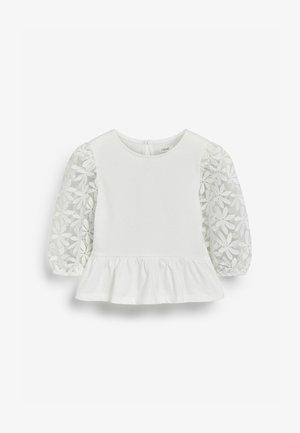 MESH FLORAL - Blouse - white
