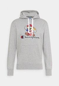 HOODED NINTENDO - Sweatshirt - mottled grey