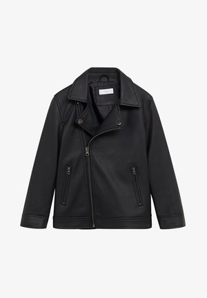 IVO - Faux leather jacket - schwarz