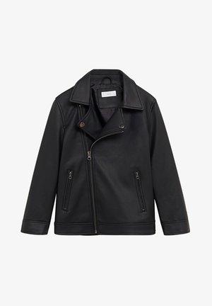 IVO - Faux leather jacket - schwarz