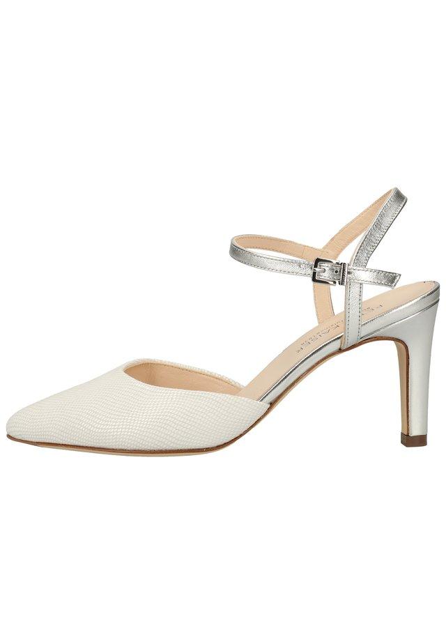 PUMPS - Højhælede sandaletter / Højhælede sandaler - weiss/silber 973