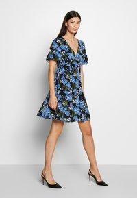 MICHAEL Michael Kors - BOLD FLARE DRESS - Day dress - black/ vintage blue - 0