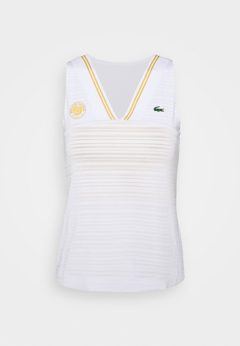 Lacoste Sport - TENNIS TANK  - Top - white/sunny/pineapple