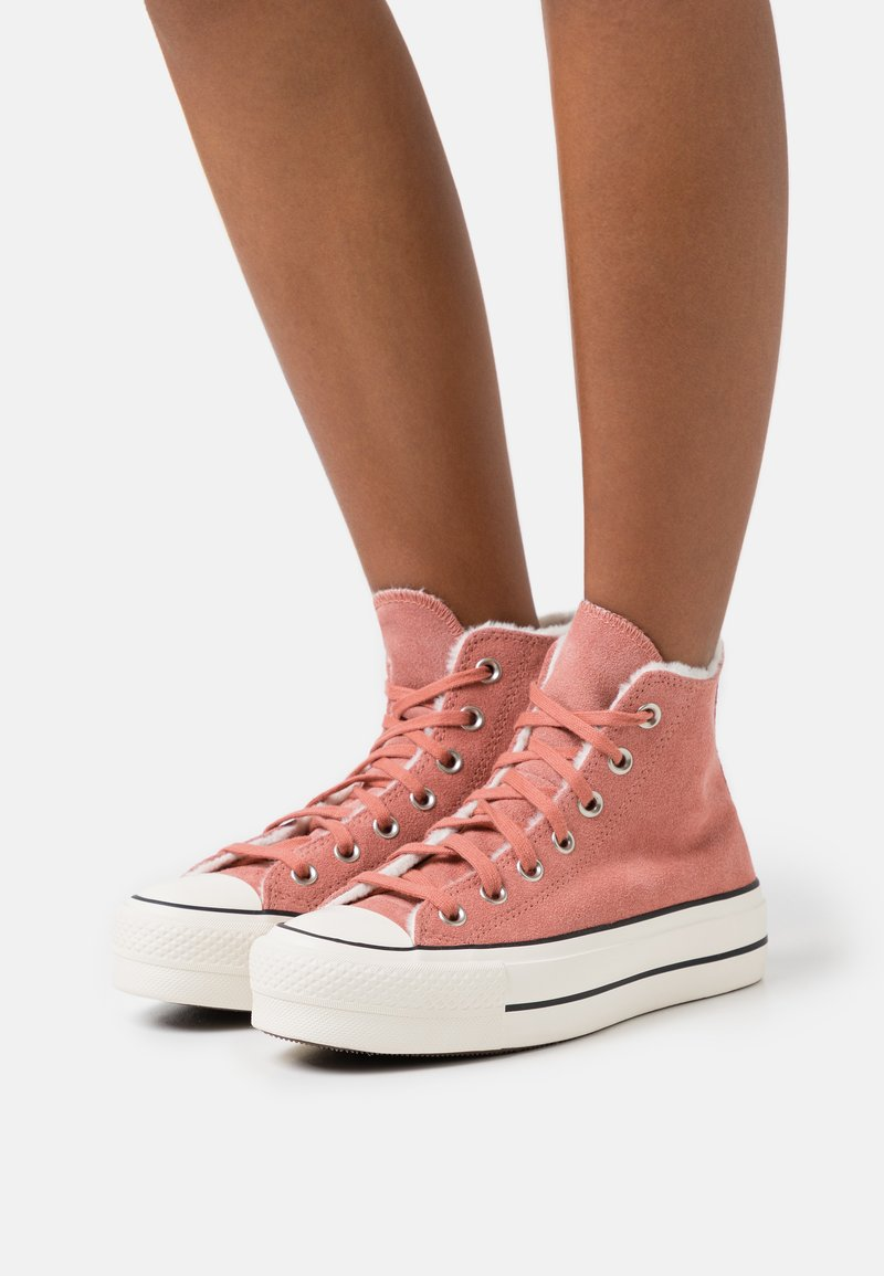 Converse - CHUCK TAYLOR ALL STAR LIFT - High-top trainers - ginger rose/egret/black