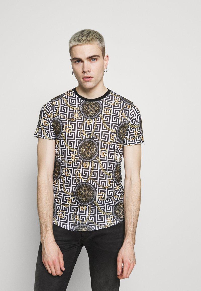 Brave Soul - CALEB - Print T-shirt - jet black