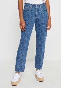 Levi's® - 501® CROP - Jeansy Straight Leg - blue denim - 0