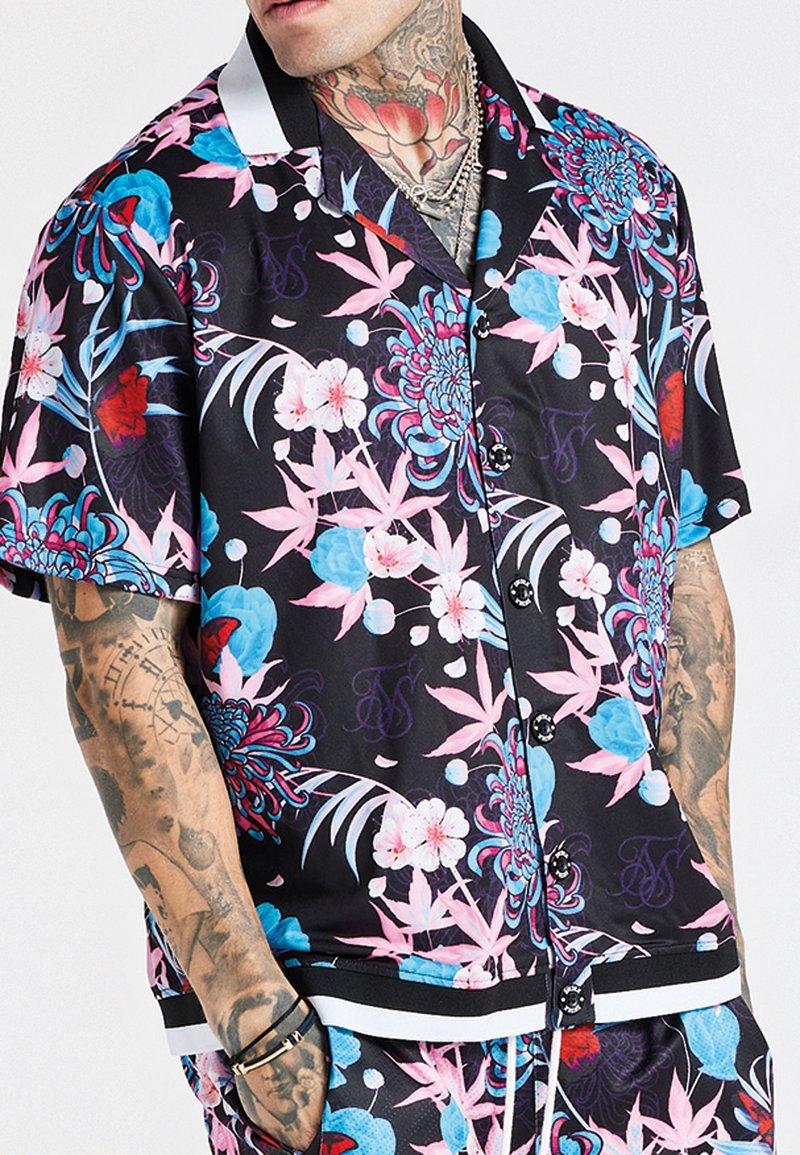 SIKSILK - LOOSE FIT AOKI SHIRT - Shirt - blue/pink/white