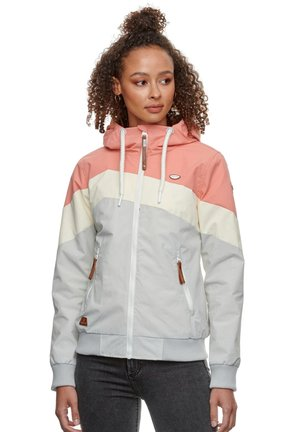 NUGGIE BLOCK - Summer jacket - coral