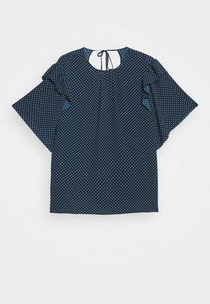 EUN - Blouse - blue/white