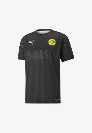 T-Shirt print - puma black-cyber yellow
