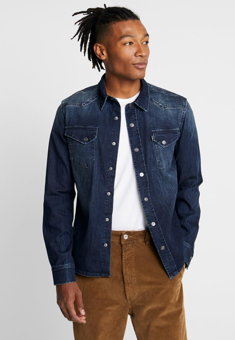 Tigha - FRED - Camisa - mid blue