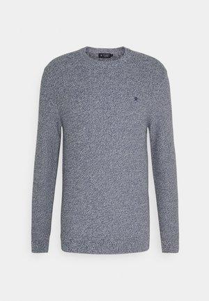 TEXTURED MOULINE CREW - Stickad tröja - blue/ecru