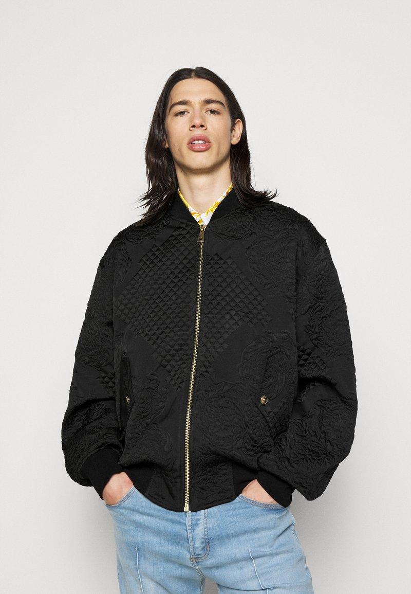 Versace Jeans Couture - MATELASSE BAROQUE  - Bomber Jacket - black