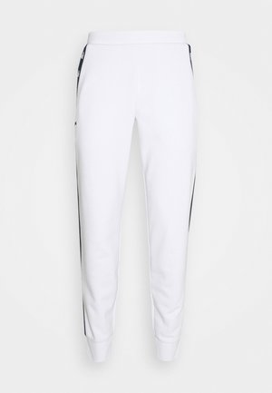 PANT TAPERED - Trainingsbroek - white/navy blue
