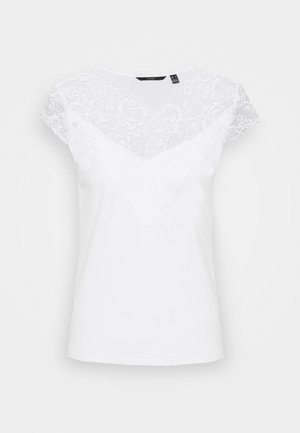 VMPHINE CAP SLEEVE - T-shirts med print - snow white