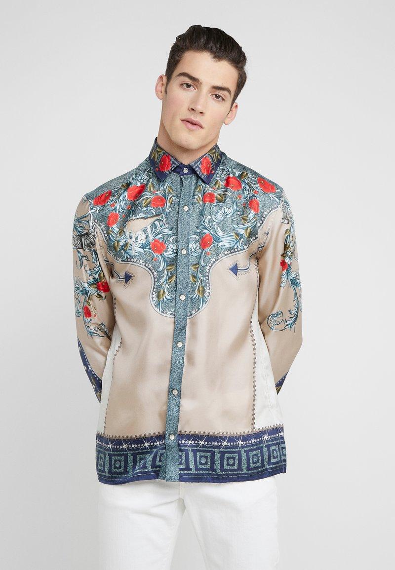 Versace Collection - CAMICIE TESSUTO - Košile - sabbia  stampa