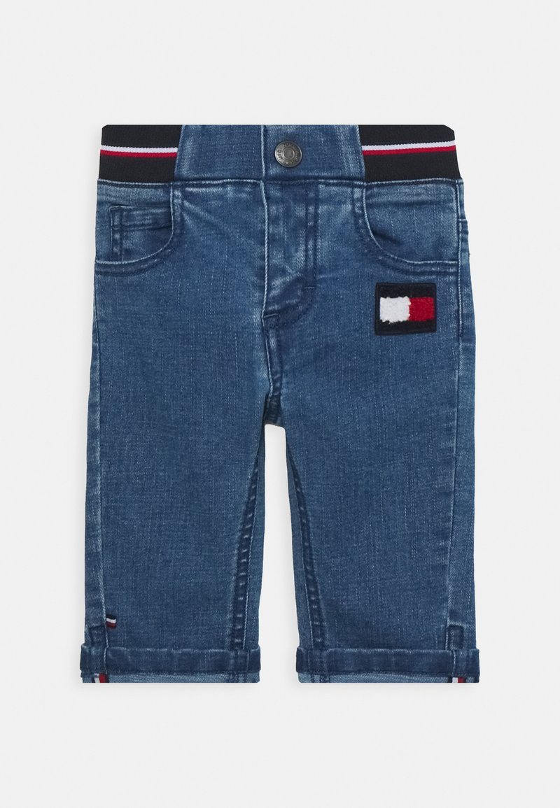 Tommy Hilfiger - BABY BOY FLAG PANT - Slim fit jeans - denim