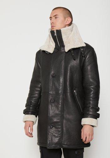 BEBARRY - Kožená bunda - black offwhite