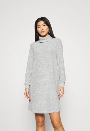 TURTLENECK DRESS - Sukienka dzianinowa - light grey marle