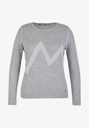 MIT ZICK-ZACK-MUSTER - Sweatshirt - hellgrau-meliert