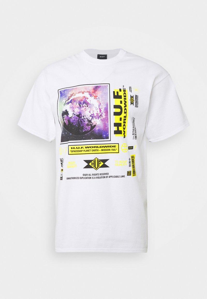 HUF FIDELITY TEE - T-Shirt print - white/weiß Wu5Y9Y