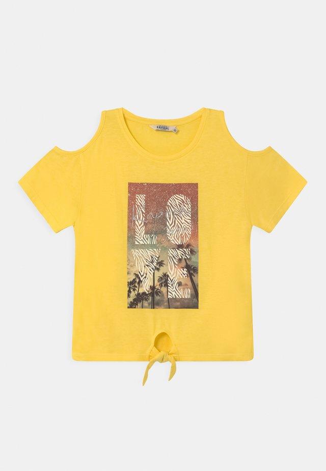 TIE FRONT LOGO  - T-shirt print - citron