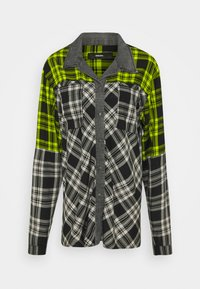Diesel - C-NILLA SHIRT - Button-down blouse - grey/lemon - 0