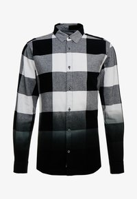 Only & Sons - ONSFREDDY LS DIP DYE CHECKED  - Košile - black - 3