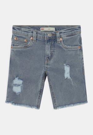 SLIM FIT ECO FLEX - Short en jean - light-blue denim