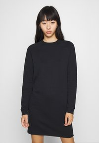 Even&Odd - BASIC - Sweat mini dress - Day dress - black - 0