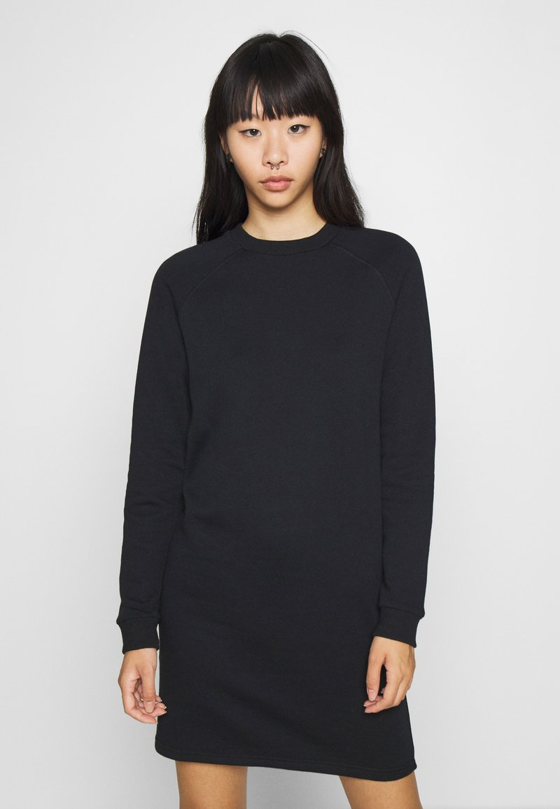 Even&Odd - BASIC - Sweat mini dress - Day dress - black